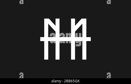 nh or hn abstract monogram sports fashion clothing brand letter mark vector logo template - Stock Photo