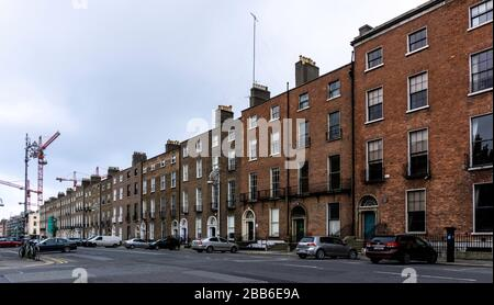 The Georgian Buildings of  FItzwilliam  Square and Fitzwilliam Street in Dublin, Ireland, they were built originally in the 1790s. - Stock Photo