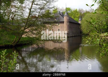 Wasserschloss Burgau, Dueren - Stock Photo