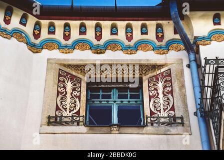 Art Nouveau Window in Subotica Closeup - Stock Photo