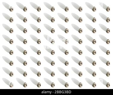 Easter pattern with quail eggs and shadows. Paschal background, texture, concept. Gift wrapping - Stock Photo