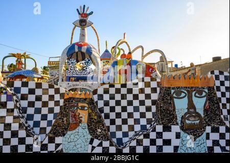 Fusterlandia, public-art installations by local artist José Fuster, with colorful, whimsical mosaics, Playa de Jaimanitas,  Havana, Cuba