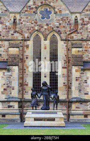 St. Mary's Statue, St. Francis Xavier Cathedral, Adelaide, South Australia, Australia - Stock Photo