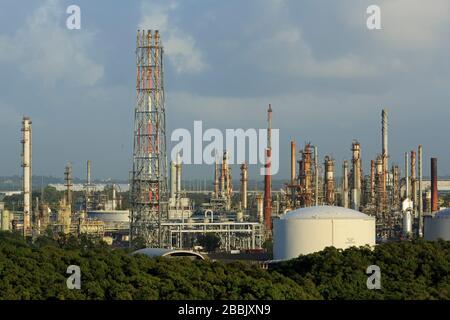 OIl Refinery, Brisbane, Queensland, Australia - Stock Photo
