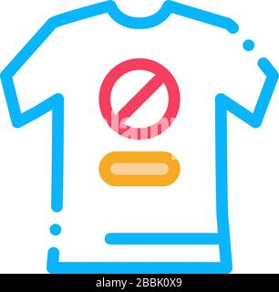 t-shirt protest icon vector outline illustration - Stock Photo