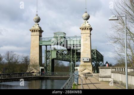 Old ship lift Henrichenburg, LWL-Industry museum, Waltrop, Ruhr area, North Rhine-Westphalia, Germany, Europe