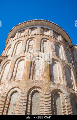 Apse of Santa Maria del Castillo church. Madrigal de las Altas Torres, Avila province, Castilla Leon, Spain. - Stock Photo