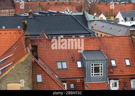 Aalborg, over the rooftops. Shot from the roof of Salling department store, located at: Nytorv 8, 9000 Aalborg, Denmark.