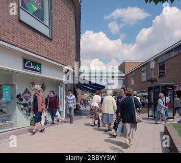 1994, Solihull Town Centre, West Midlands, England, UK - Stock Photo
