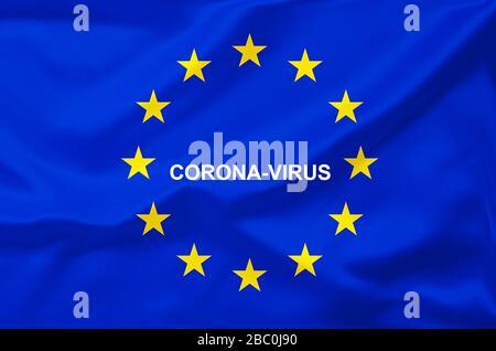 Brexit, Euroflagge, Flagge, EU-Fahne,  Eurostars, Corona-Virus, Coronavirus, Corona-Virus, - Stock Photo