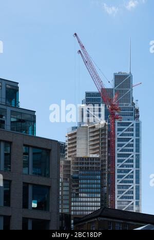 One Bishopsgate Plaza PLP Architecture VOL Lend Lease Twoer Building Under Construction Heron Tower Bishops Square,, London, E1 June 2019. - Stock Photo