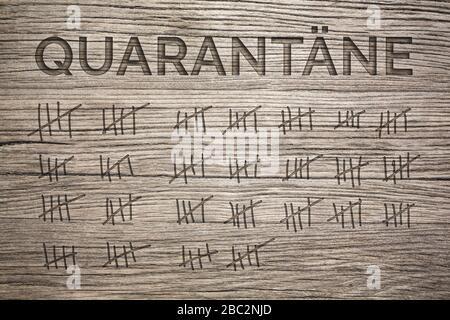 Dauer der Quarantäne Konzept
