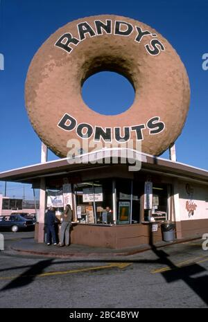 Randy's Donuts in Inglewood, CA., USA Stock Photo