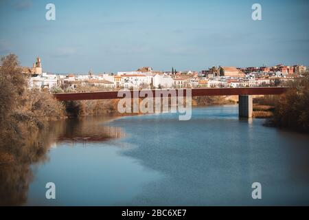 River Guadalquivir and Cordoba city - Stock Photo