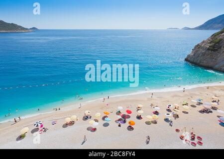 Kaputas beach near Kalkan, Antalya Province, Turkey - Stock Photo