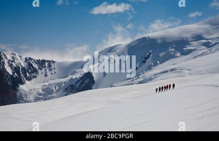The Trans-Alay Range. Pamir Mountain System. Climbing expedition. Scenic landscape. Kyrgyz nature. - Stock Photo