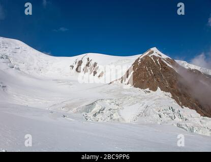 The Trans-Alay Range. Pamir Mountain System. Scenic landscape. Kyrgyz nature. Snow on the peaks. - Stock Photo