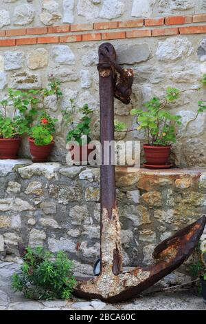 Anchor in Old Town,Nessebar,Bulgaria,Eastern Europe - Stock Photo