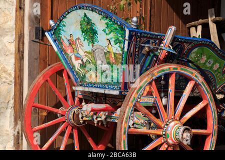 Wagon in Old Town,Nessebar,Bulgaria,Eastern Europe - Stock Photo