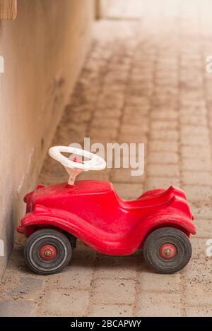 Sweden, Central Sweden, Uppsala, childrens toy car