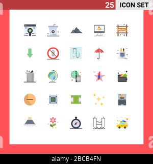 Stock Vector Icon Pack of 25 Line Signs and Symbols for sketch, dimensional, meal, cube, nature Editable Vector Design Elements - Stock Photo