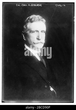 'English: Title: Col. Chas. E. Lydecker Abstract/medium: 1 negative: glass; 5 x 7 in. or smaller.; 1915; Library of Congress  Catalog: https://lccn.loc.gov/2014709444 Image download: https://cdn.loc.gov/master/pnp/ggbain/29200/29286u.tif Original url: https://www.loc.gov/pictures/item/2014709444/; Bain News Service, publisher; ' - Stock Photo