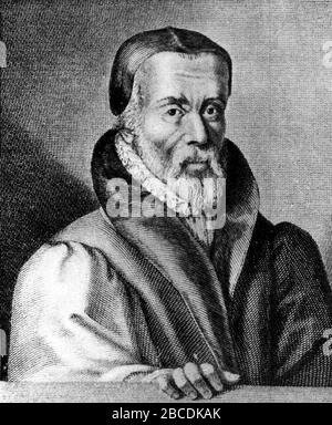 William Tyndale, Protestant reformer and Bible translator. William Tyndale (1494 – 1536) English scholar - Stock Photo