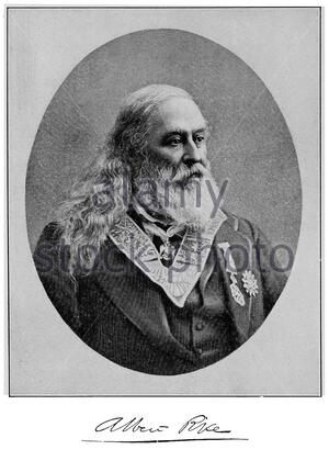 Albert Pike portrait, 1809 – 1891, was an American author, poet and Freemason Sovereign Grand Commander of the Scottish Rite's Southern Jurisdiction, circa late 1800s - Stock Photo