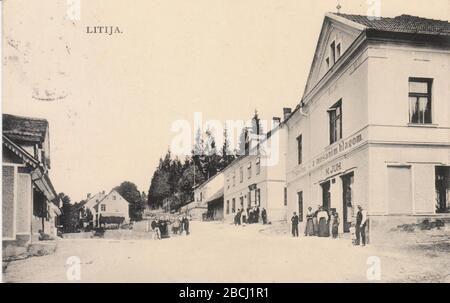 English Postcard Of Litija 1909 Http Www Ebay De Itm Litija Strassenansicht 142288417707 Unknown Author Stock Photo 352393173 Alamy