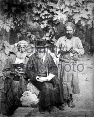 'en:Jews in en:Jerusalem en:1895. From the en:1901-en:1906 en:Jewish Encyclopedia, now in the en:public domain.[1]]  en:Category:Jewish Encyclopedia images; 1895; https://www.loc.gov/pictures/collection/matpc/item/2002712698/?sid=49fa3150aeac57d28f1c29f88b6e026c; American Colony (Jerusalem). Photo Department, photographer; ' - Stock Photo