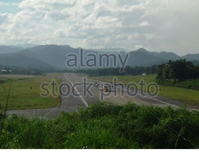 'English: Maehongson Airport - Mae Hong Son, Thailand - By Piyuth Noito.; 20 June 2009 (original upload date); Own work; User: (WT-shared) Maehongson at  wts wikivoyage; ' - Stock Photo