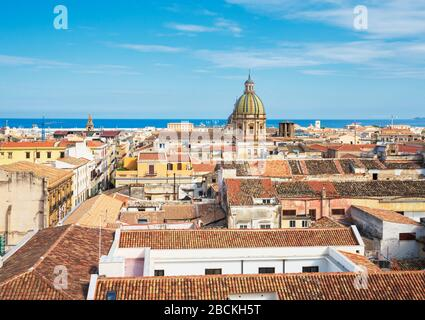 Cityscape, Palermo, Sicily, Italy, Europe,