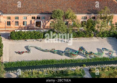 View from the Bell tower of San Giorgio Maggiore - Stock Photo