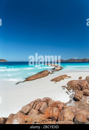 Lucky Bay Beach on a summers day in Cape Le Grand National Park, Esperance - Stock Photo