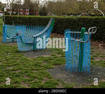 London UK Monday 6 April 2020 As the rules of social distancing have been. continuously ignored, Sutton Park was obliged to cover up all its exercise machines in the open ground,  as well as the children playground  .Paul Quezada-Neiman/Alamy Live News