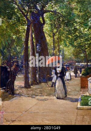 Fifth Avenue at Washington Square New York 1891 Hassam Childe 1859-1935 England English British Britain UK - Stock Photo