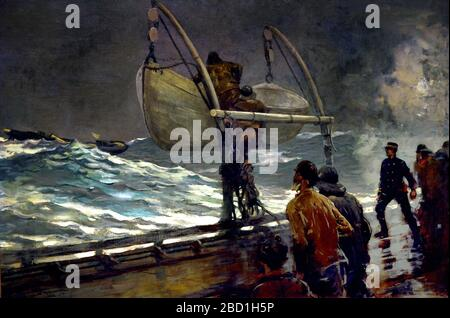 Signal of Distress 1890 Winslow Homer 1836-1910  American United States of America - Stock Photo