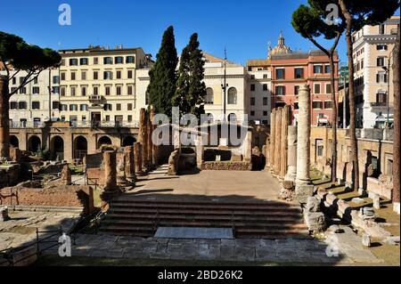 italy, rome, area sacra of largo di torre argentina, temple of juturna (3rd century BC) - Stock Photo