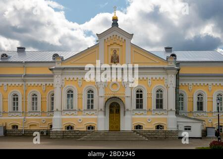 DIVEEVO, RUSSIA - AUGUST 25, 2019: Church of Alexander Nevsky in the Trinity Seraphim-Diveevo monastery