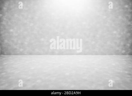 Empty modern grey gradients studio with light spot background for copy space display product of present content advertising banner product design
