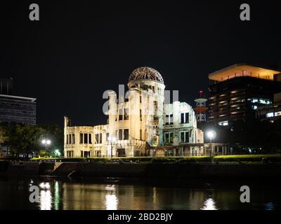 The Atomic Bomb Dome (Genbaku Dome), Hiroshima Peace Memorial Park, Japan. - Stock Photo