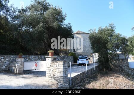 The Windmill, Paxos, Greece. A Simpson Travel property with a pool. View from the track - Stock Photo