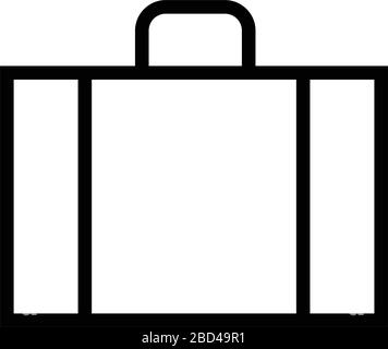 thin line sharp vector icon / bag, luggage, business travel - Stock Photo
