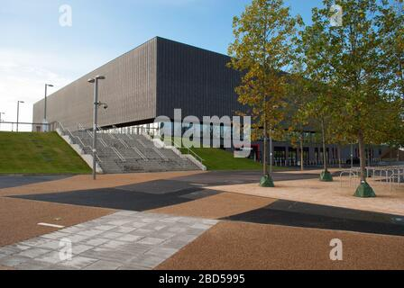 Copper Box Arena Queen Elizabeth Olympic Park, London E20 3HB by Make Architects - Stock Photo