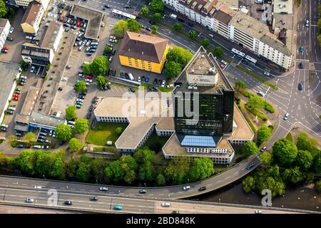 , employment office Agentur fuer Arbeit at Koernerstrasse in Hagen-Mittelstadt, 09.05.2016, aerial view, Germany, North Rhine-Westphalia, Ruhr Area, Hagen - Stock Photo