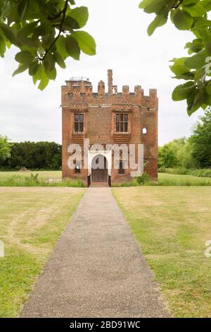 The Gatehouse is all that remains of the old Rye House, located in Hoddesdon, Hertfordshire - Stock Photo