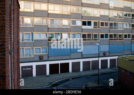 Before demolition, the Heygate Estate was a large housing estate in Walworth, Southwark, South London, Elephant and Castle - Stock Photo
