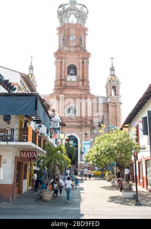 Parroquia de Nuestra Señora de Guadalupe, Puerto Vallarta, Nayarit, Mexico - Stock Photo