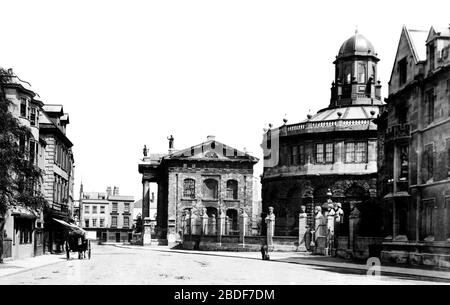 Oxford, Broad Street 1890 - Stock Photo