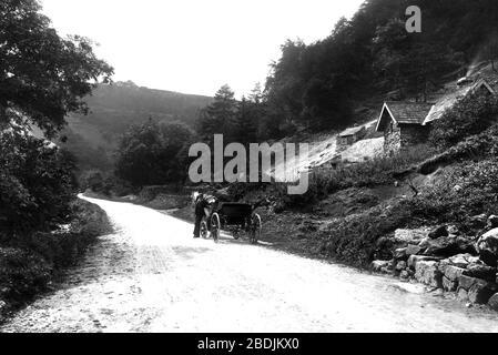 Bonsall, Via Gellia, Tufa Cottage 1892 - Stock Photo